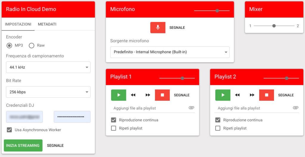Regia automatica web RADIO IN CLOUD